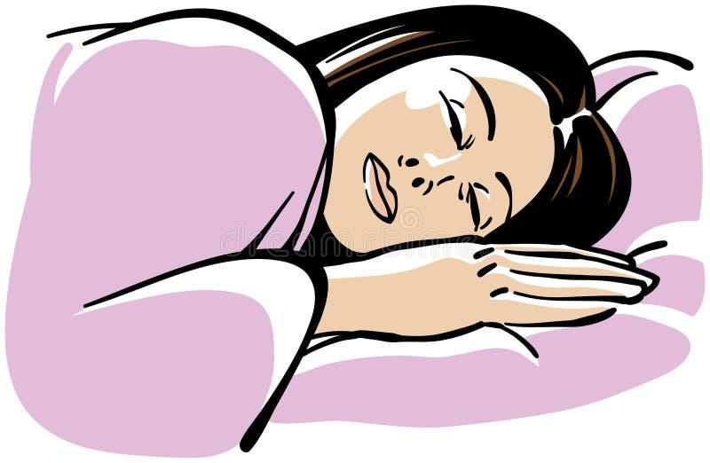 Sleeping Woman stock vector. Illustration of rest ...
