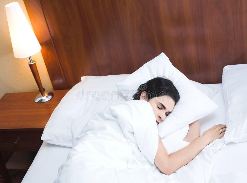 Sleeping woman stock images