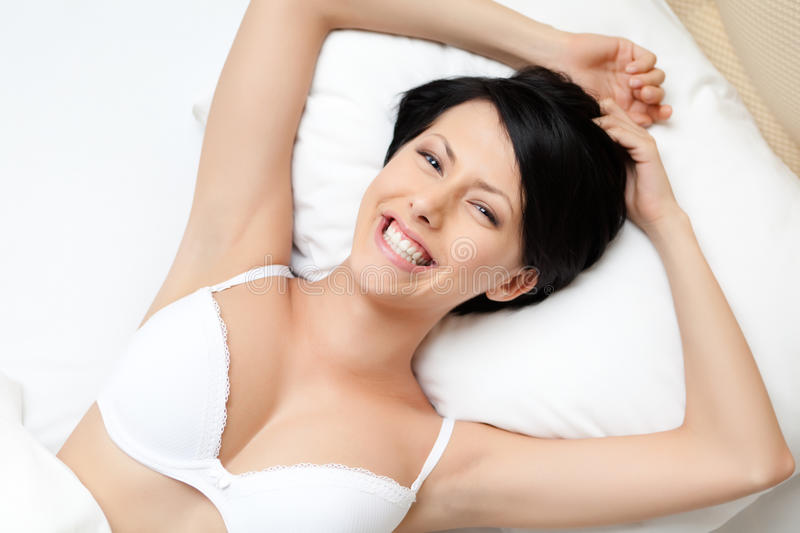 Download Sleeping woman in the bed stock photo. Image of accommodation - 27253260