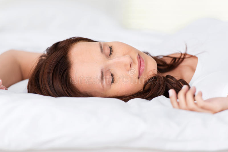 Download Sleeping woman stock photo. Image of dreams, blanket - 31484250