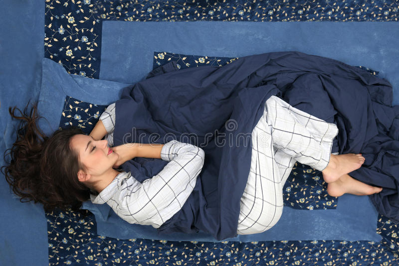 Sleeping woman royalty free stock image