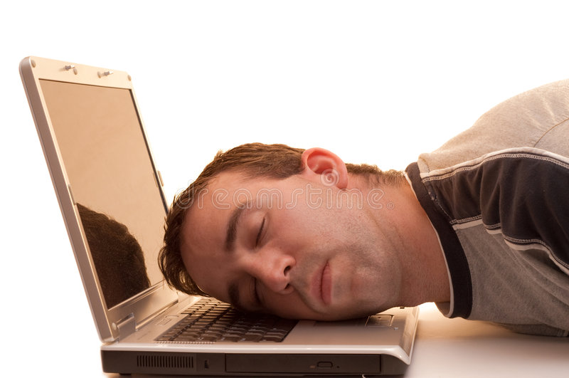 Download Sleeping At Work stock photo. Image of down, head, caucasian - 5442796
