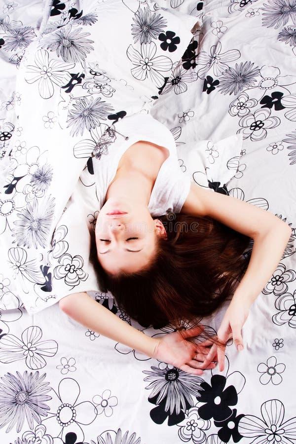 Sleeping Young Beautiful Girl Stock Photos