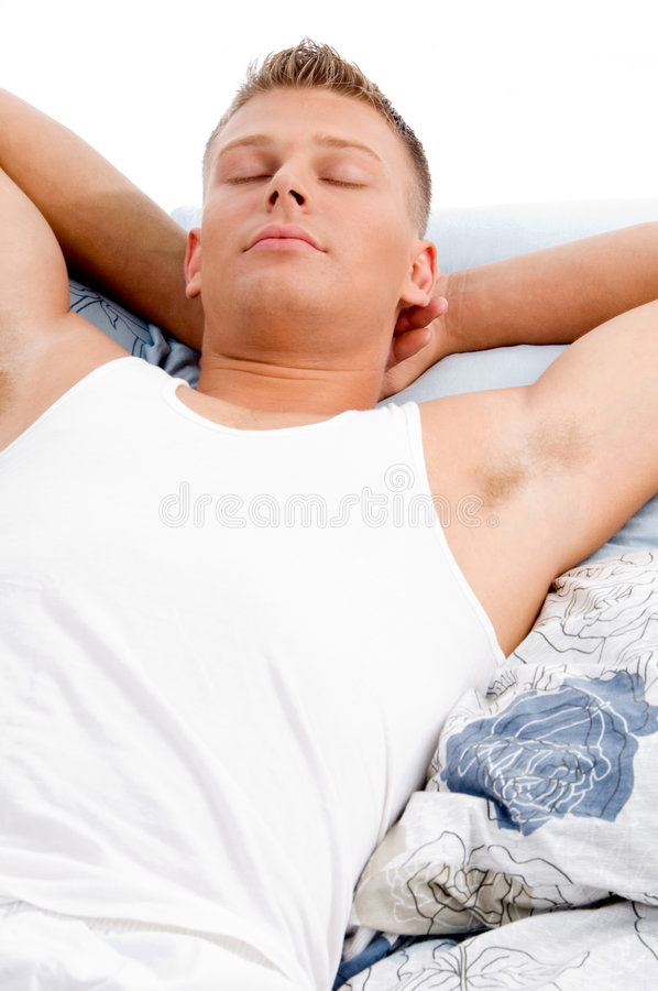 Download Sleeping young man stock image. Image of young, handsome - 8211063