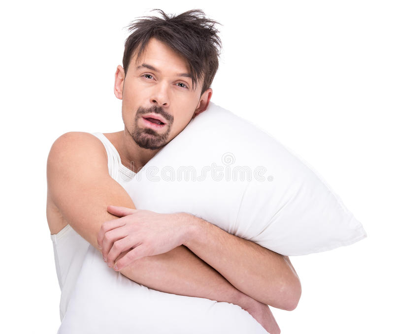 Sleeping Stock Image Image Of Cheerful Pillow Exhausted