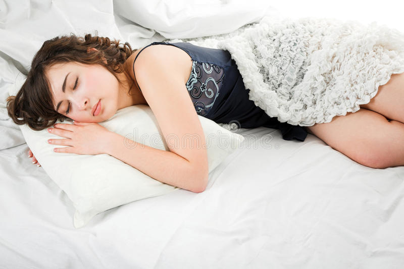 Download Sleeping young woman stock image. Image of beauty, morning - 23430407