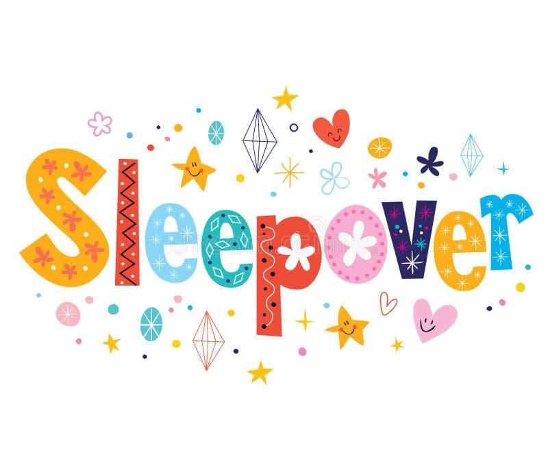 sleepover illustration stock