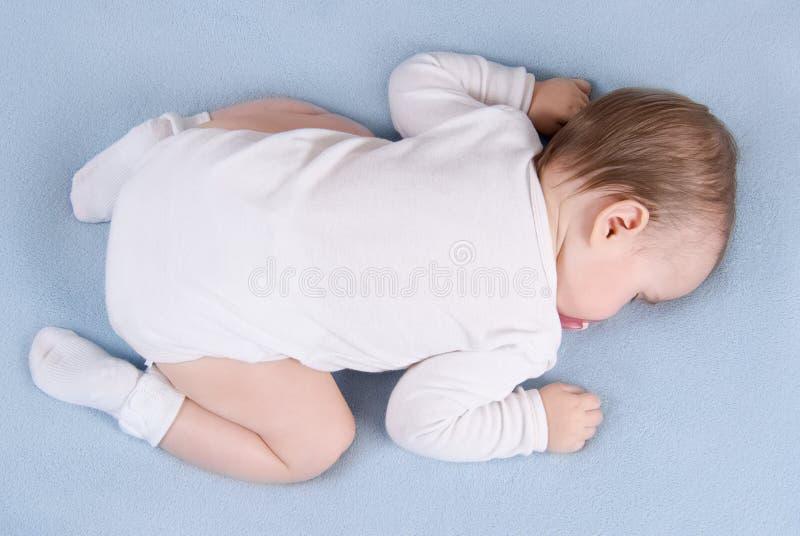 Sleepsblanket del bebé. Visión superior fotografía de archivo libre de regalías