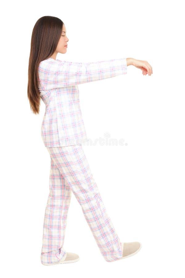 Sleepwalking Frau lizenzfreie stockbilder