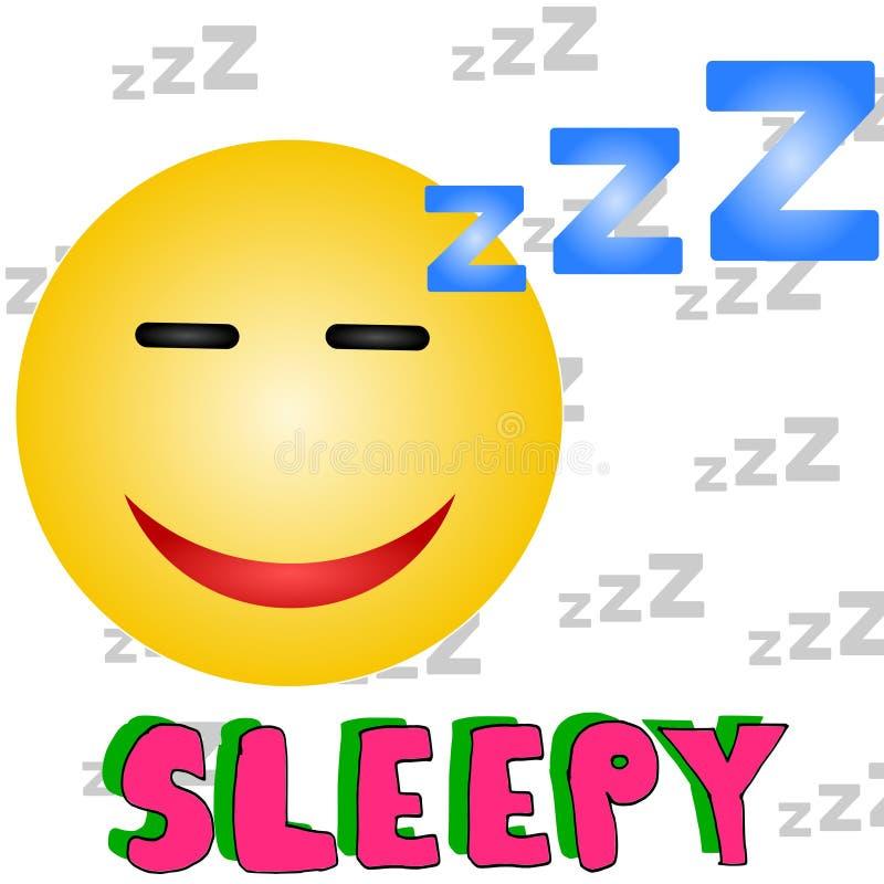 Sleepy royalty free illustration