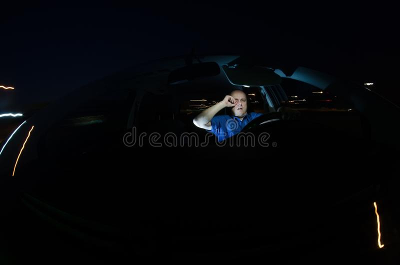 Sleepy driver royalty free stock photography
