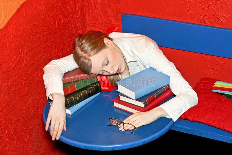 Sleepy education stock photo