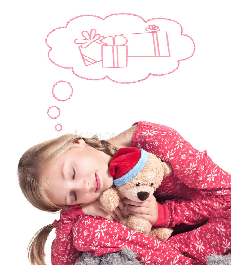 Download Sleepy Girl With Teddy Bear Royalty Free Stock Photo - Image: 21117205