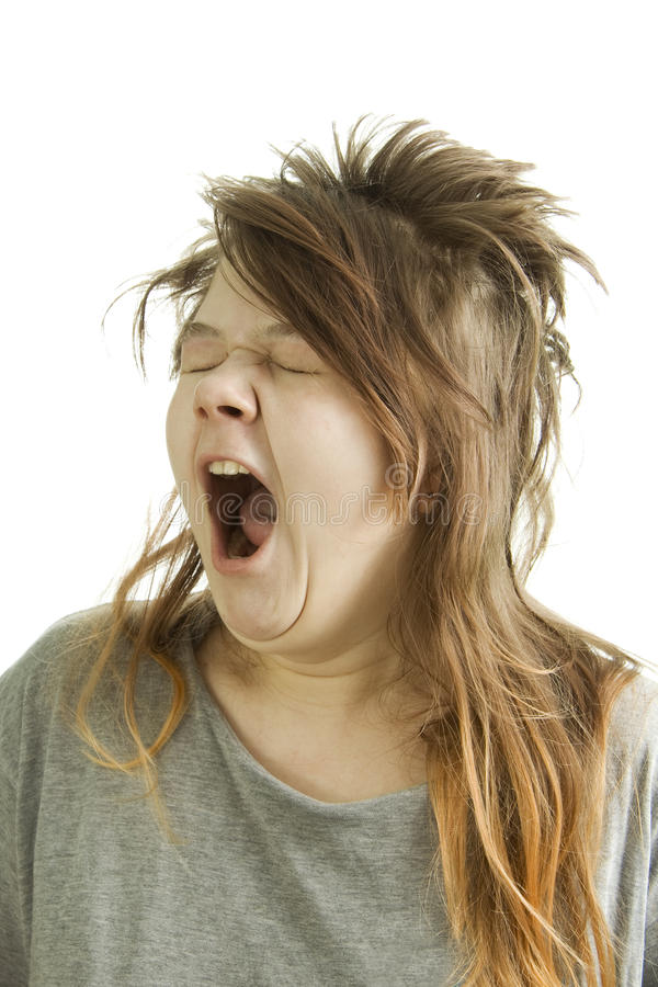 free hair style sleepy yawning stock photo image of image 4523