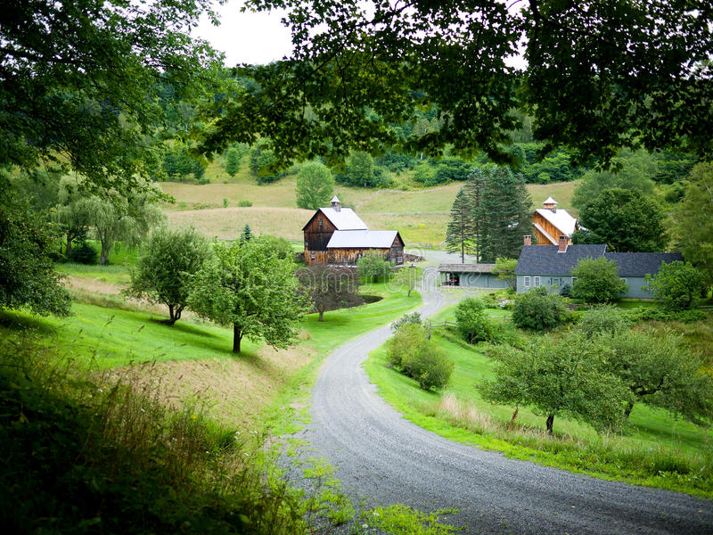 Sleepy Hollow Farm, Vermont royalty free stock photo