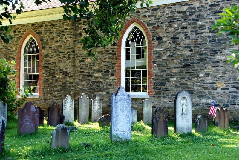 Sleepy Hollow, NY: 1685 Old Dutch Church royalty free stock image