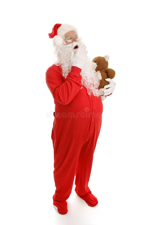 Sleepy Santa royalty free stock photography