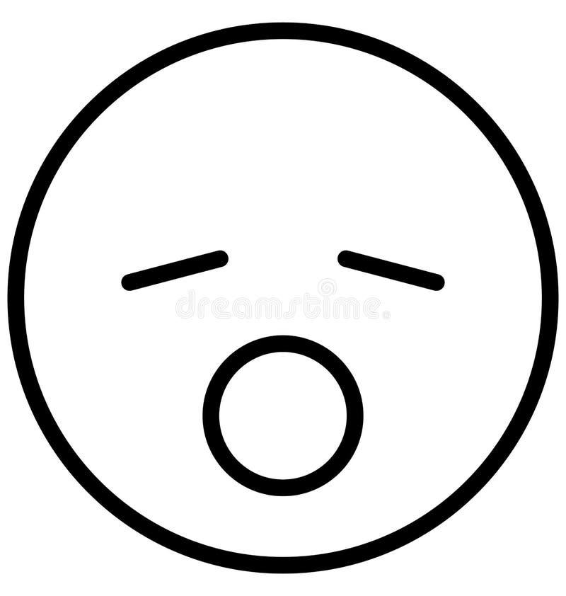 sleepy, sleepy and open mouth Vector Isolated Icon which can easily modify or edit sleepy, sleepy and open mouth Vector Isolated vector illustration