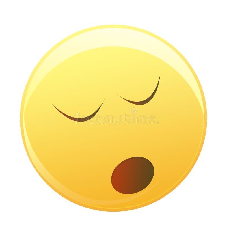 Sleepy smiley face
