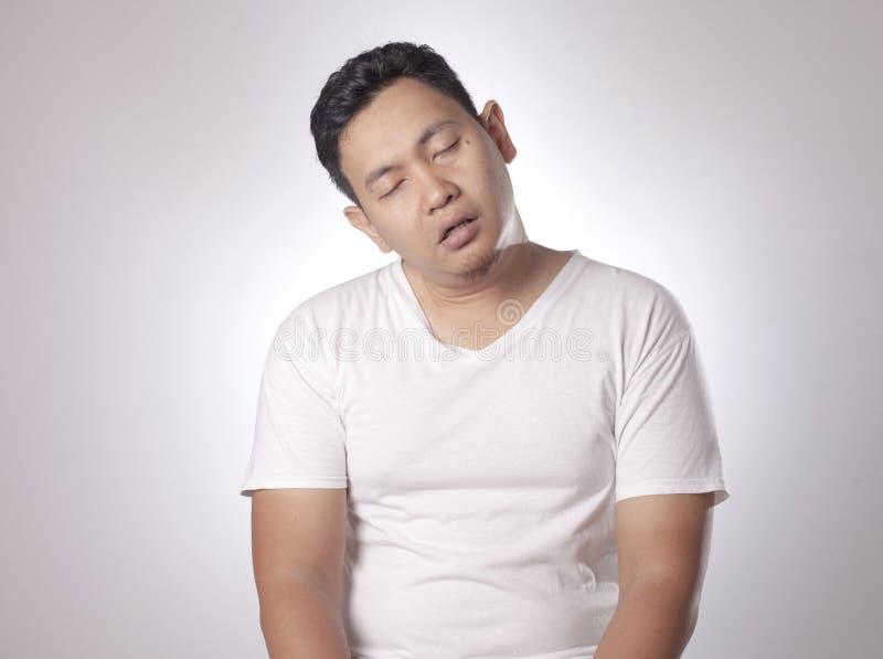 Sleepy Tired Young Man royalty free stock photos