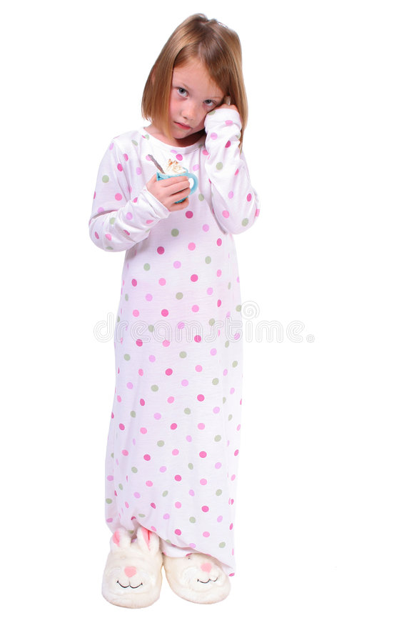 Sleepy young girl royalty free stock images