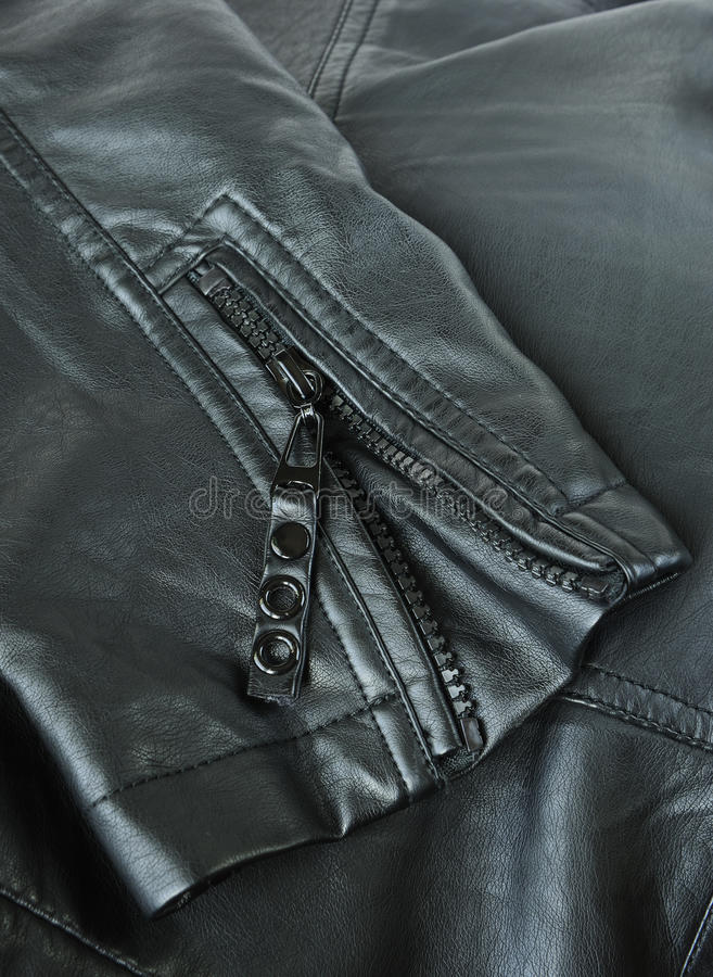 Free Sleeve Of A Leather Jacket Stock Images - 27304494