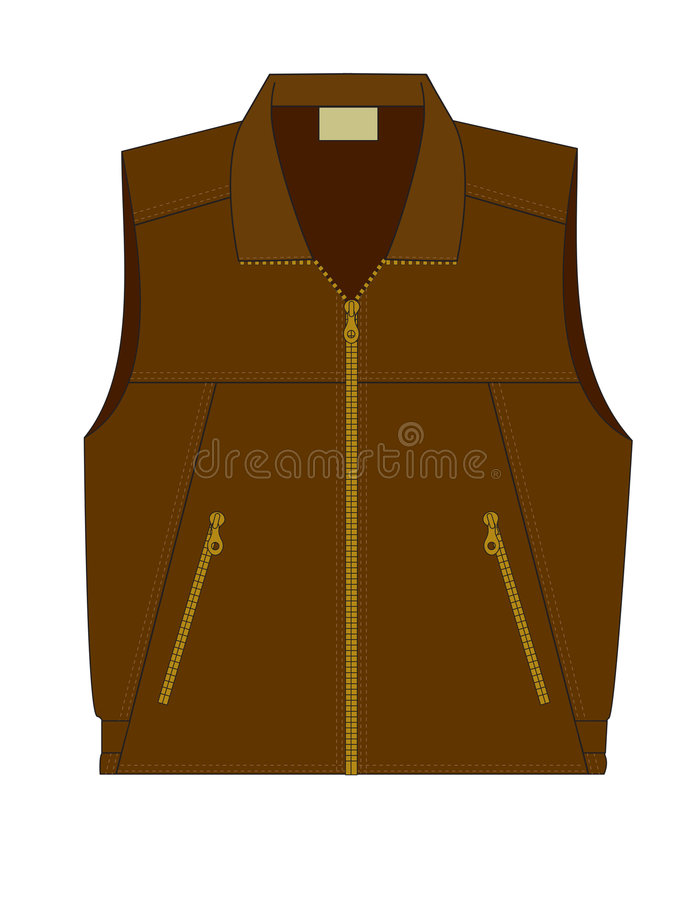 Download Sleeveless Jacket With Zipper Stock Photography - Image: 4337552
