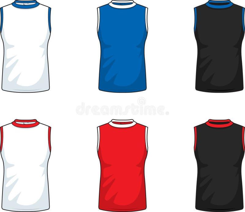 Sleeveless T-Shirts lizenzfreie abbildung