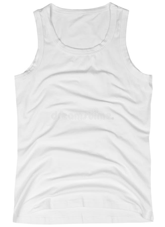 Sleeveless unisex shirt isolated on white royalty free stock photos