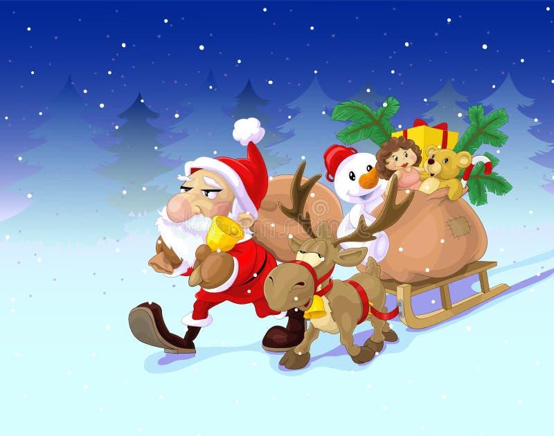 sleigh för s santa royaltyfri foto