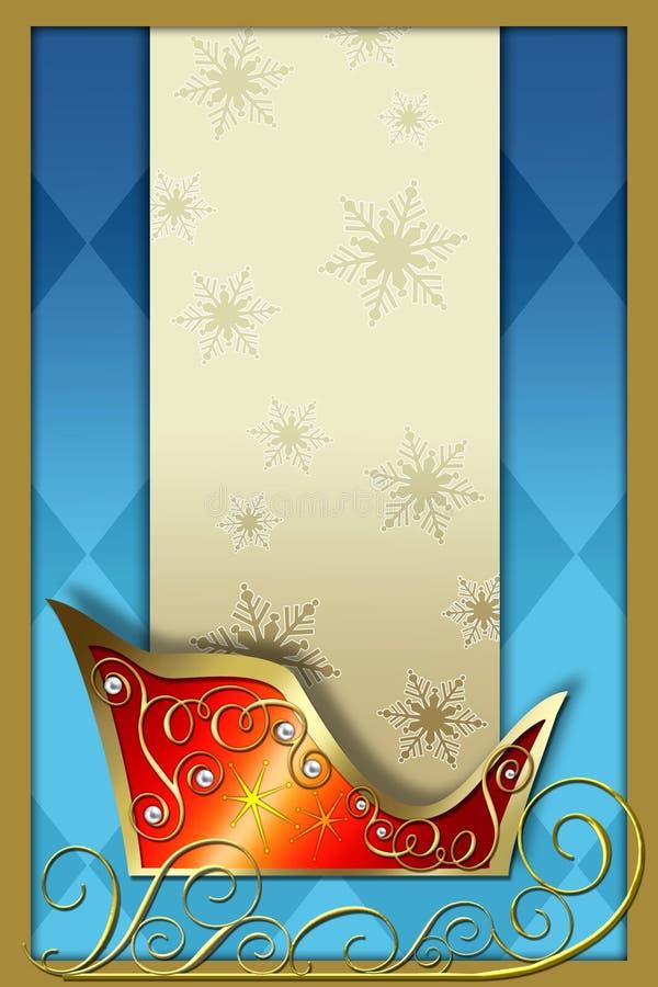 sleigh för s santa vektor illustrationer