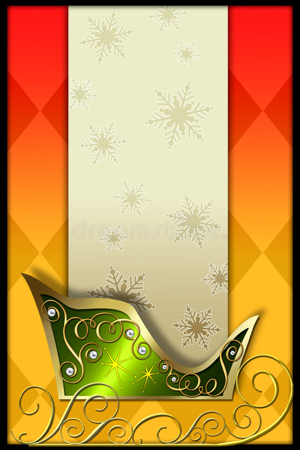 sleigh för s santa stock illustrationer