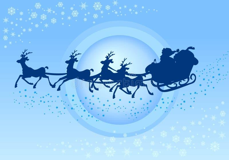 sleigh för s santa arkivfoton