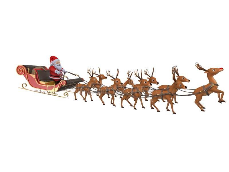 Sleigh för Santa `s stock illustrationer
