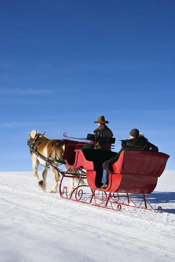 Sleigh ride. royalty free stock photo