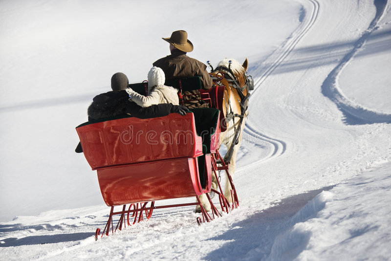 Sleigh ride. royalty free stock photos