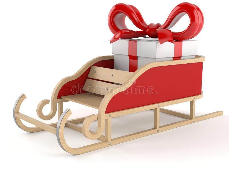 Sleight met gift stock illustratie