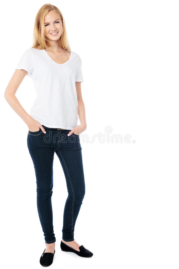 Download Slender Friendly Young Woman Royalty Free Stock Images - Image: 33237809