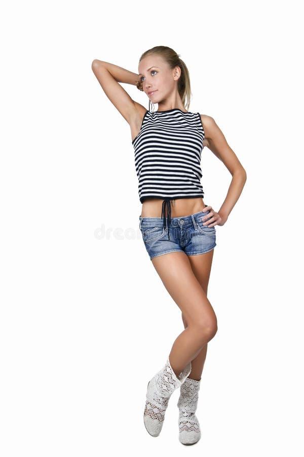 Slender girl stock image