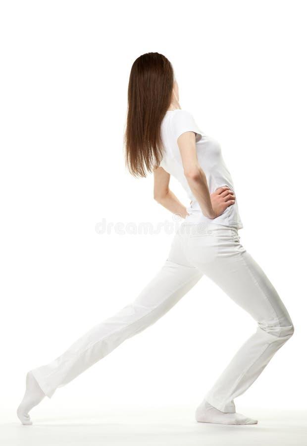 Download Slender girl exercising stock photo. Image of improvement - 24478496