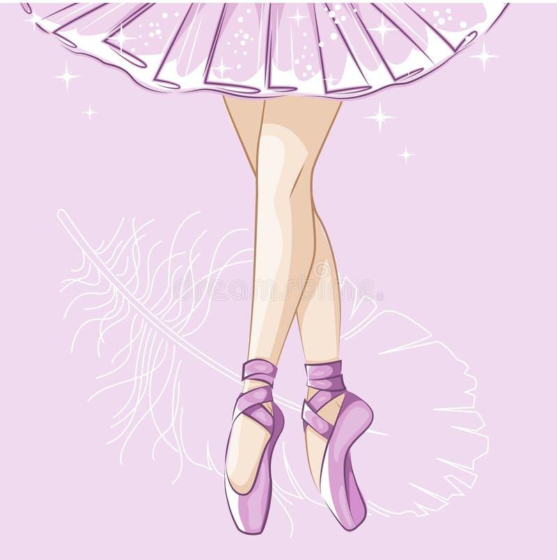 Free Slender Legs In Ballet Slippers. Stock Image - 81340471
