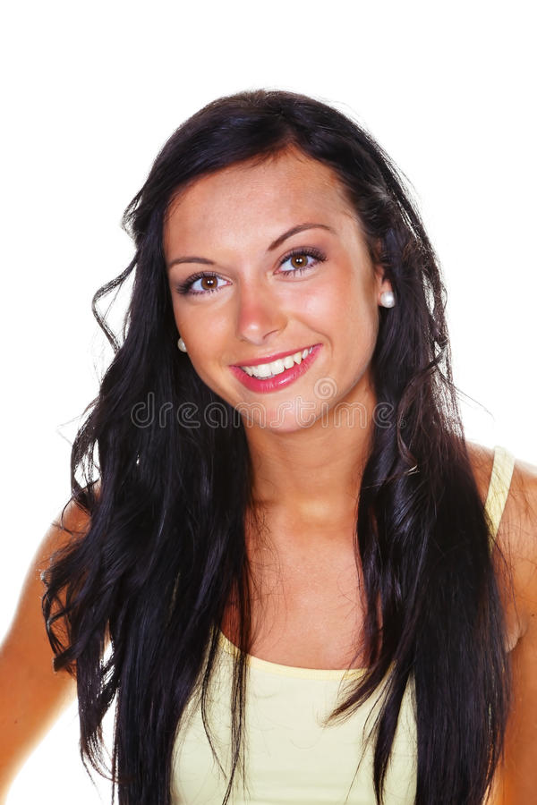 Slender young woman royalty free stock photography