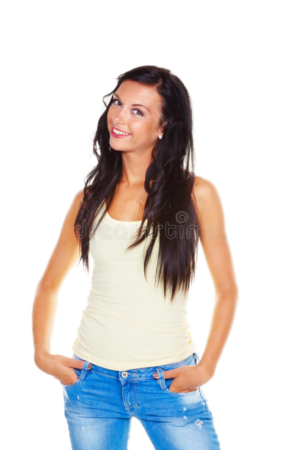 Slender young woman royalty free stock photos