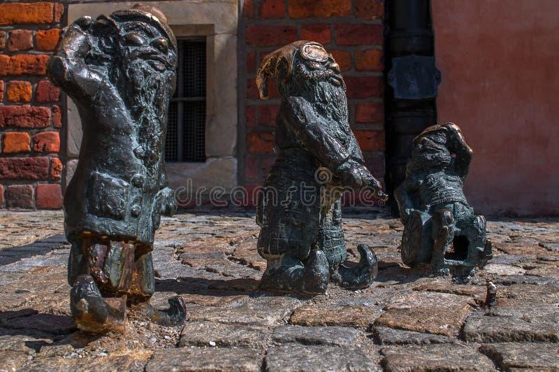 Slepak enano Gluchak Wskers Wroclaw imagenes de archivo