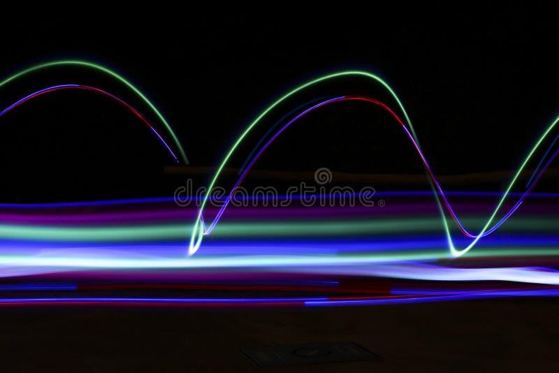 Slepen van licht stock afbeeldingen