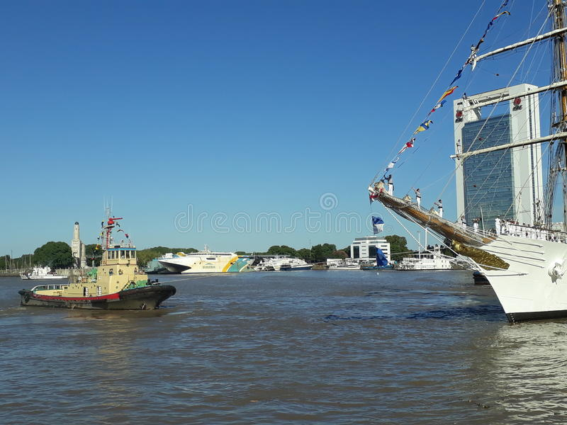 Slepend Fregat Libertad royalty-vrije stock fotografie