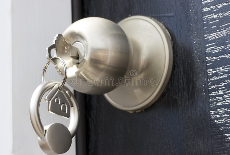 Sleutel en slot royalty-vrije stock foto