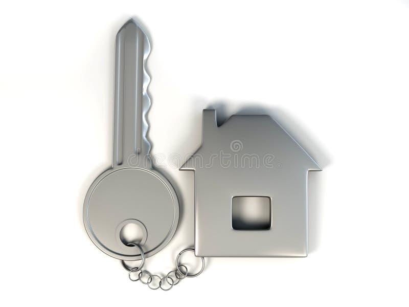 Sleutel met huis royalty-vrije illustratie