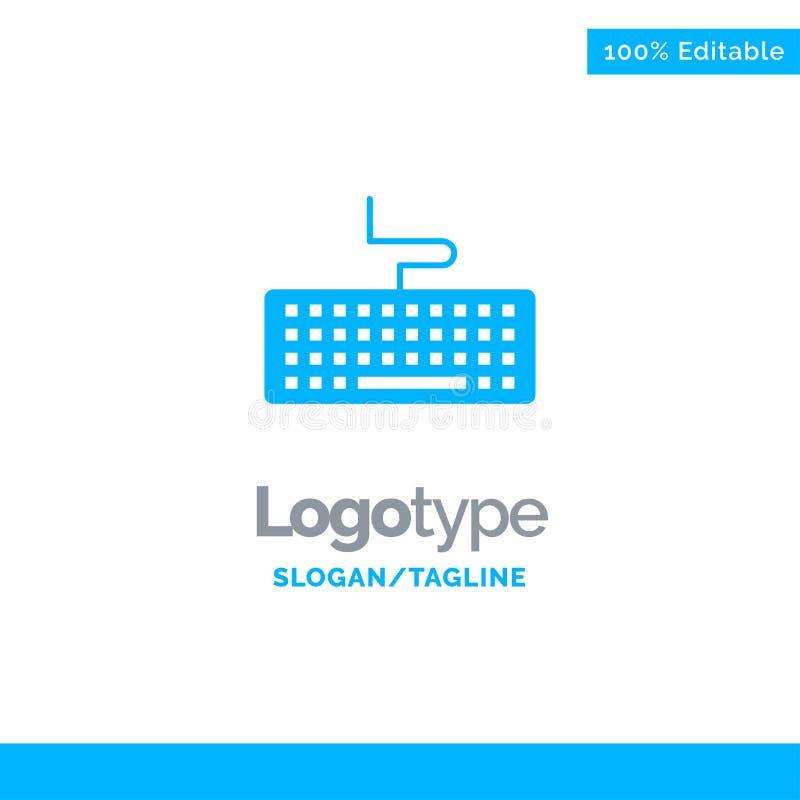 Sleutel, Toetsenbord, Hardware, Onderwijs Blauwe Zaken Logo Template royalty-vrije illustratie