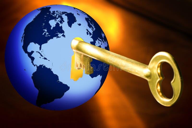 Sleutel tot de wereld stock illustratie